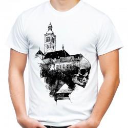 Koszulka z czaszką i zamkiem