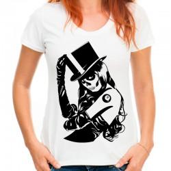 Koszulka z mroczną kobietą
