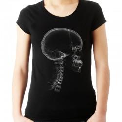 Koszulka damska z czaszką x-ray