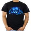 T-shirt z czaszką dla hakera