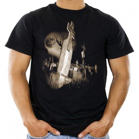 T-shirt z cmentarzem