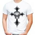 Koszulka z krzyżem i czaszką