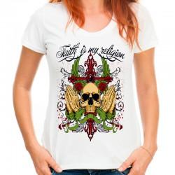 T-shirt Faith is mt religion