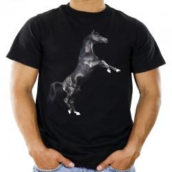 Koszulka z czarnym koniem