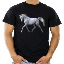 Koszulka z białym koniem