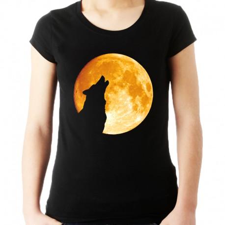 Koszulka z wilkiem i księżycem