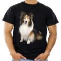Koszulka z owczarkiem szkockim