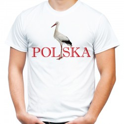 Koszulka z bocianem Polska