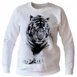 Bluza z tygrysem biała