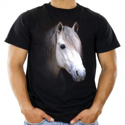 t-shirt z koniem
