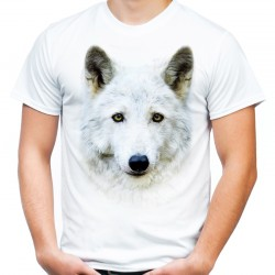 Koszulka z wilkiem białym