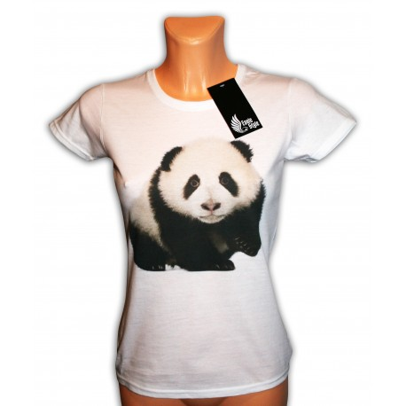 Bluzka damska biała z Pandą