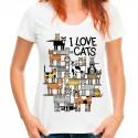koszulka i love cats