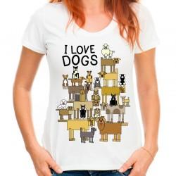koszulka i love dogs