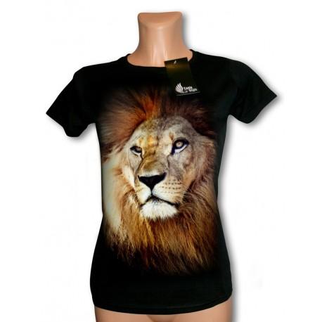 Bluzka damska czarna z lwem