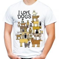 koszulka i love dogs kocham psy