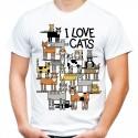 koszulka i love cats kocham koty