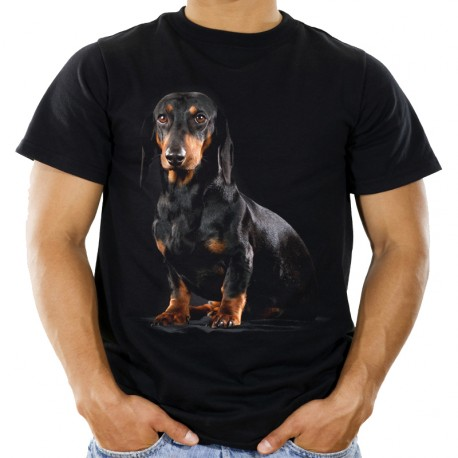 Koszulka z psem Jamnikiem Krótkowłosym