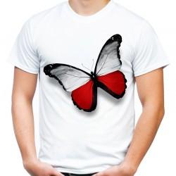 Koszulka z motylem Polska