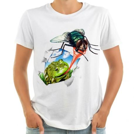 Koszulka z żabą i muchą 3d