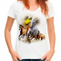 Koszulka damska w konie