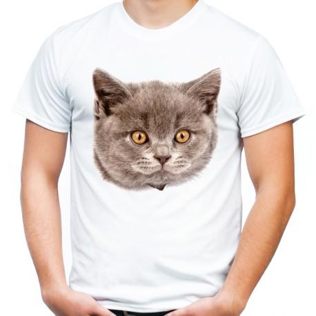 koszulka z głową kota