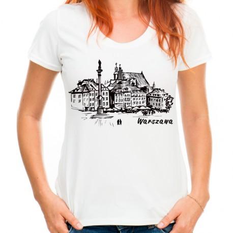 koszulka z Warszawą