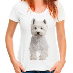 Koszulka z psem West Highland white terrier