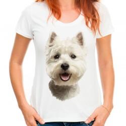 Koszulka z psem West Wesie Highland white terrier