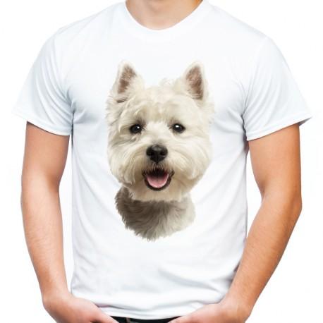Koszulka z psem West Westie Highland white terrier