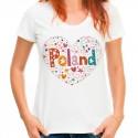 Koszulka z sercem Polska