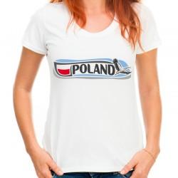Bluzka z bocianem z napisem POLAND