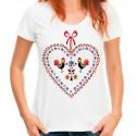 Koszulka damska z sercem folk