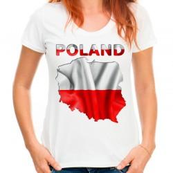 Koszulka z mapą Polski napisem Poland