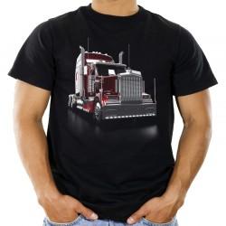 Koszulka z ciągnikiem siodłowym