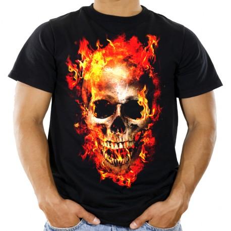 Koszulka z płonącą czaszką