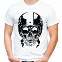 Koszulka z czaszką w kasku