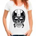 Koszulka damska z czaszką w kasku