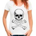 Koszulka z czaszką damska