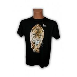 Koszulka męska czarna z jaguarem