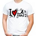Koszulka spotrowa dla biegacza i love run
