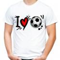 Koszulka i love soccer kocham piłkę
