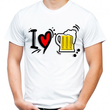 Koszulka i love beer kocham piwo