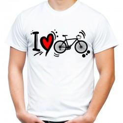 Koszulka na rower i love bike