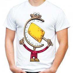 Śmieszna koszulka gęba z lodem