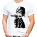 Koszulka horror Zombie z pistoletem
