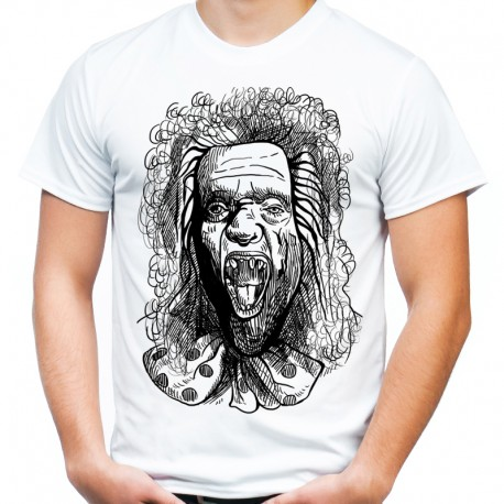 Koszulka z klaunem horror