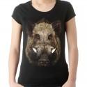 Koszulka z dzikiem damska
