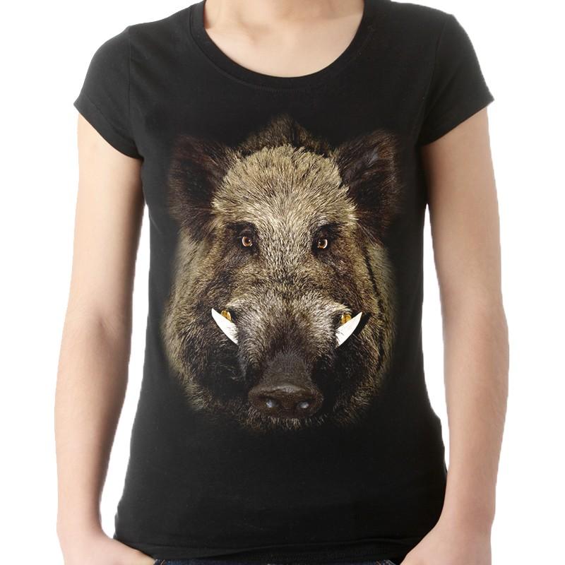f07455414 Koszulka z dzikiem damska - Sklep Miromiko