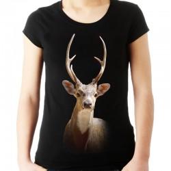 Bluzka czarna z jeleniem